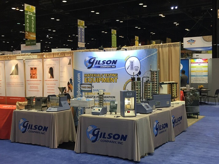 Gilson's exhibit hall booth' style=