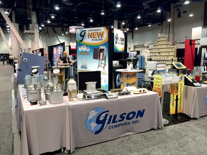 gilson exhibit booth at world of concrete annual meeting in las vegas