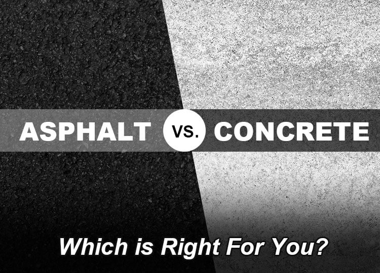 Asphalt vs Concrete: Which is Right For You? [Infographic]