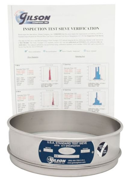 ISO 565, 3310-1 Inspection Test Sieve Verification