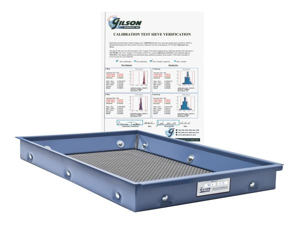 ASTM E 11 Calibration Screen Tray Verification