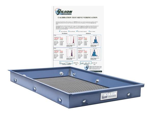 ISO 565, 3310-1 Calibration Screen Tray Verification