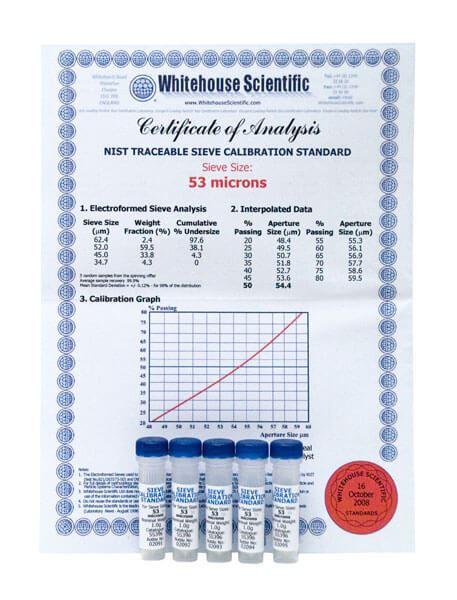No. 270 Whitehouse Sieve Standards