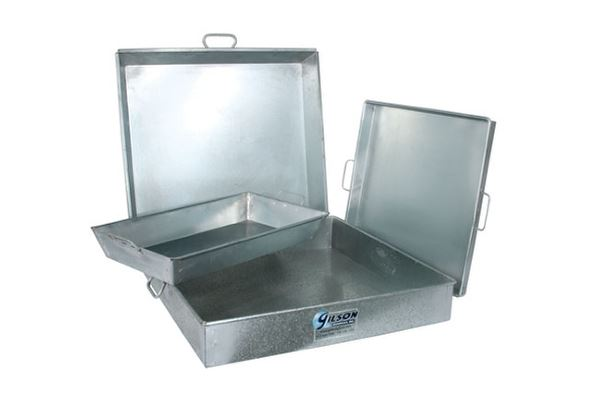 40qt. Galvanized Iron Pan
