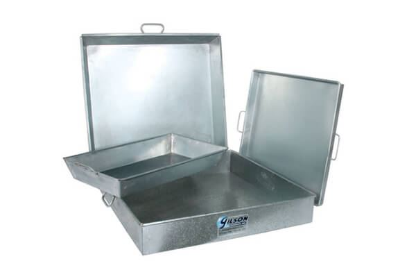 8qt. Square Galvanized Iron Pan