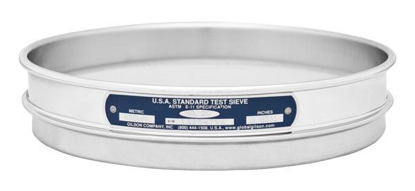 """6"""" Sieve, All Stainless, Half Height, No. 16"""