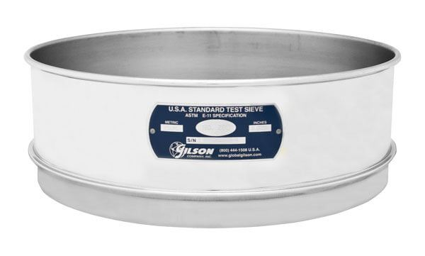 "10"" Sieve, All Stainless, Full Height, No. 16"