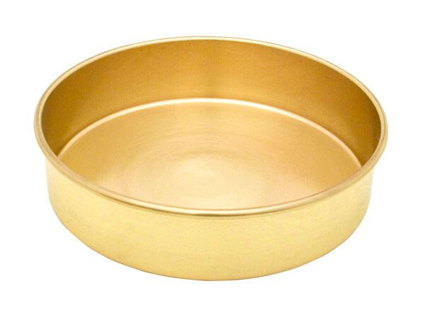"8"" All Brass Extended Rim Pan, Half Height"