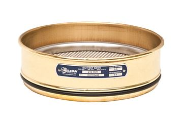 200mm Sieve, Brass/Stainless, Full Height, 1.25mm