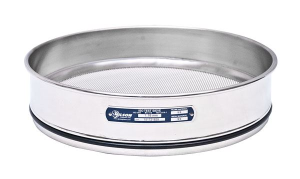 300mm Sieve, All Stainless, Full Height, 112µm with Backup Cloth