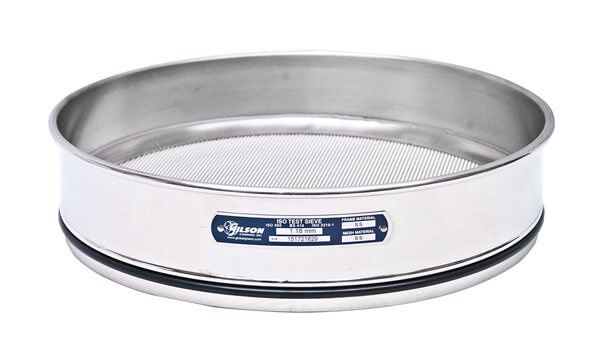 300mm Sieve, All Stainless, Full Height, 160µm with Backing Cloth