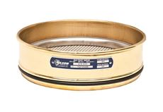 200mm Sieve, Brass/Stainless, Full Height, 100µm with Backing Cloth
