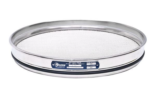 300mm Sieve, All Stainless, Half Height, 20µm with Backing Cloth