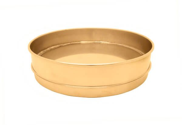 "8"" All Brass Extended Rim Pan, Full Height"