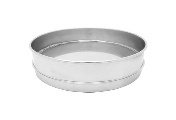 "8"" All Stainless Extended Rim Pan, Half Height"