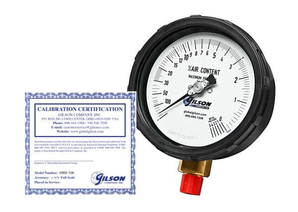 Concrete Air Meter Gauges