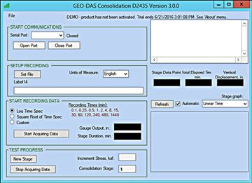 Geotechnical Data Acquisition Suite (GEO-DAS)