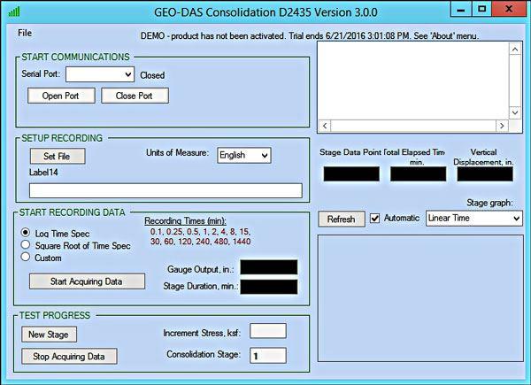 Geotechnical Data Acquisition Suite (GEO-DAS)