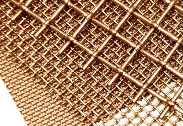 Cut-To-Order Brass Wire Cloth, #14