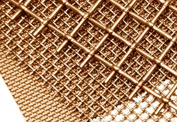 Cut-To-Order Brass Wire Cloth, #8