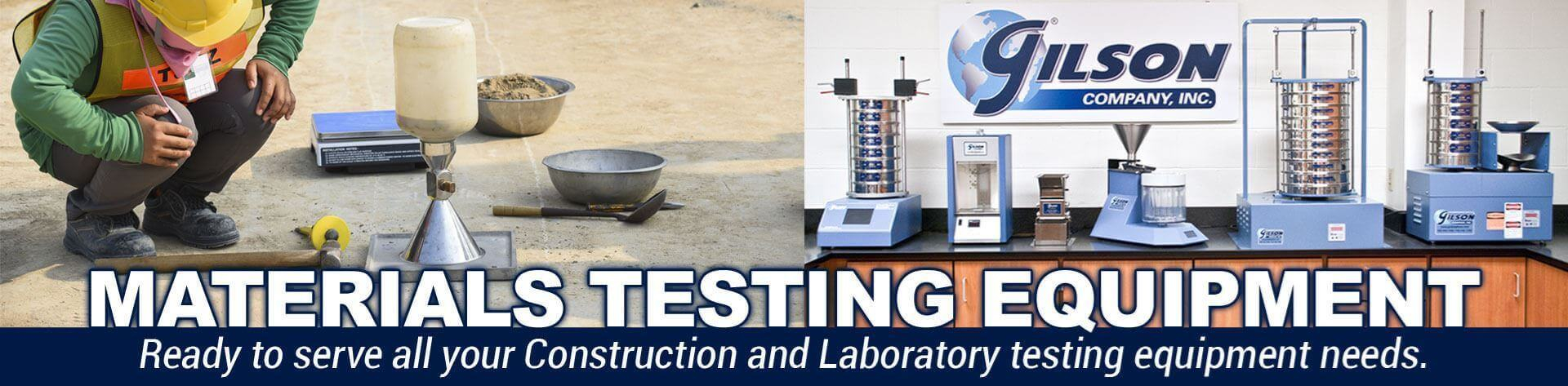 Materials Testing Equipment - Ready to serve all your construction and laboratory testing equipment needs.