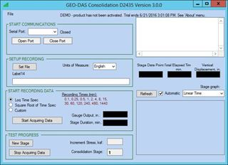 Geotechnical Data Acquisition Software (GEO-DAS) for Consolidation
