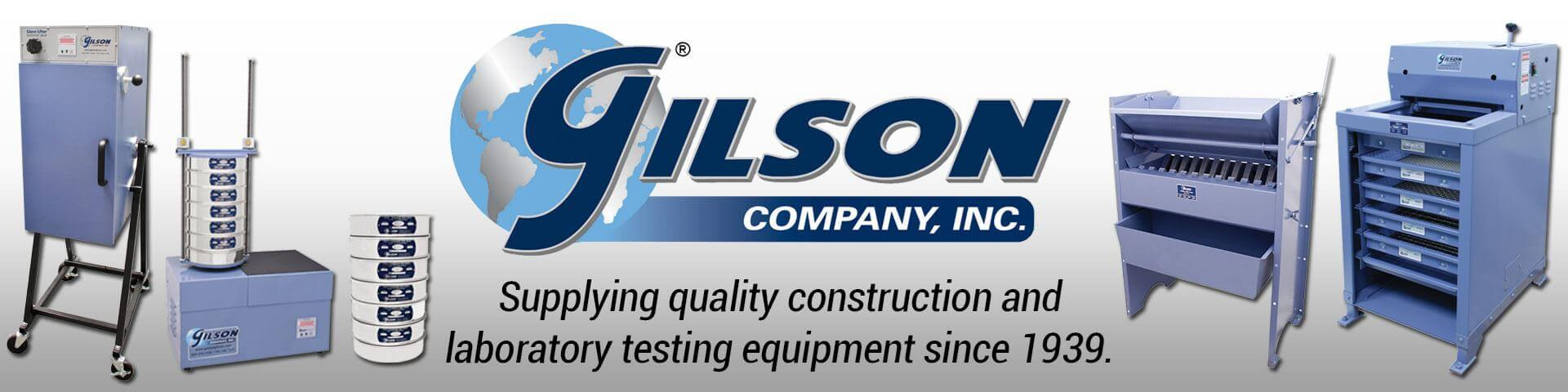 Gilson Company, Inc. - Supplying quality construction and laboratory testing equipment since 1939