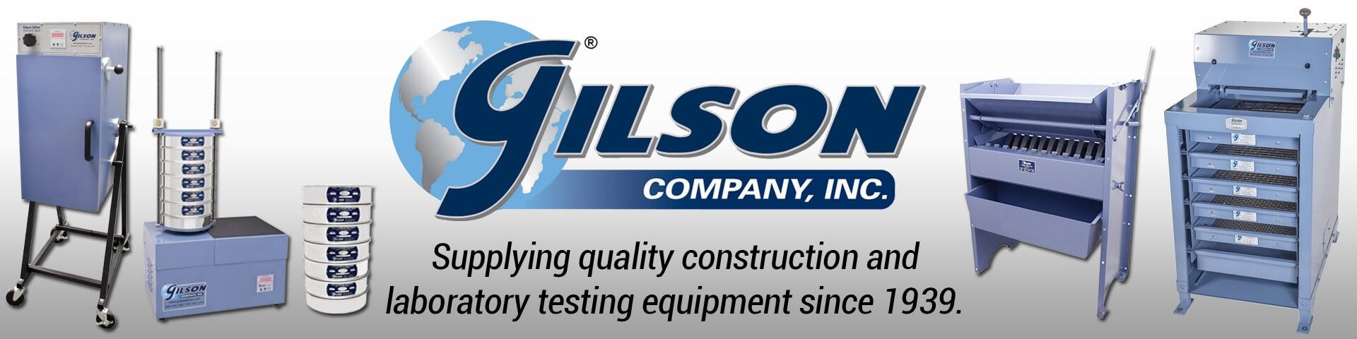 Gilson Company, Inc. - Supplying quality construction and laboratory testing equipment since 1939