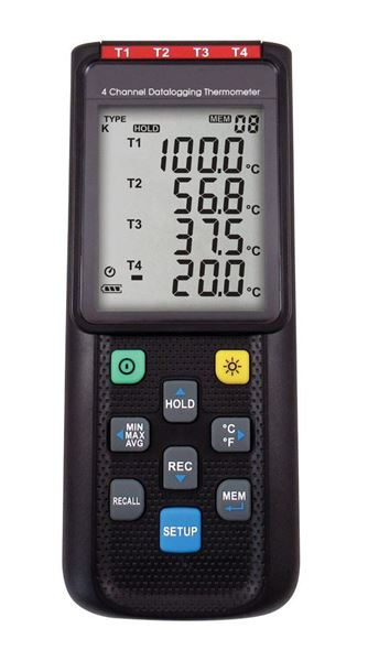 4-Channel Data Logging Thermometer