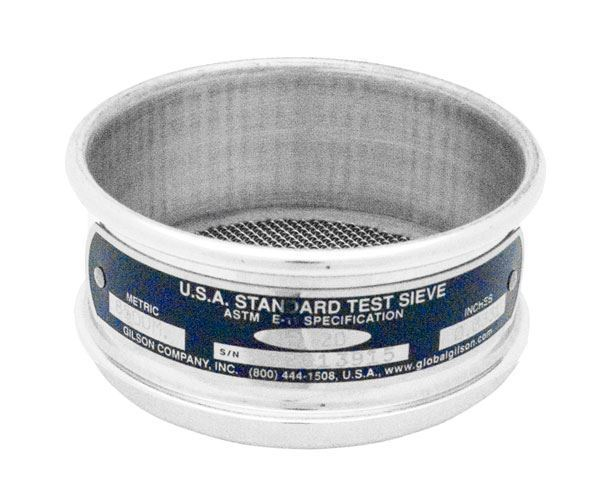 """3"""" Sieve, All Stainless, Half Height, 1.80mm"""