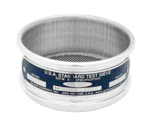 """3"""" Sieve, All Stainless, Half Height, 1.25mm"""