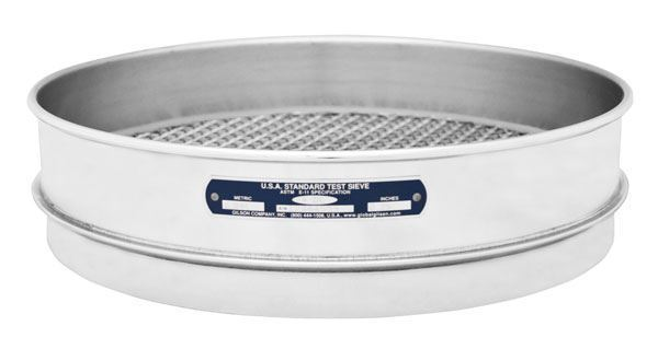 """12"""" Sieve, All Stainless, Intermediate Height, 630µm"""