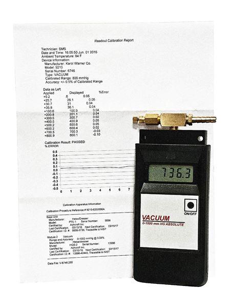 NIST Calibration Certification for Residual Pressure Manometer