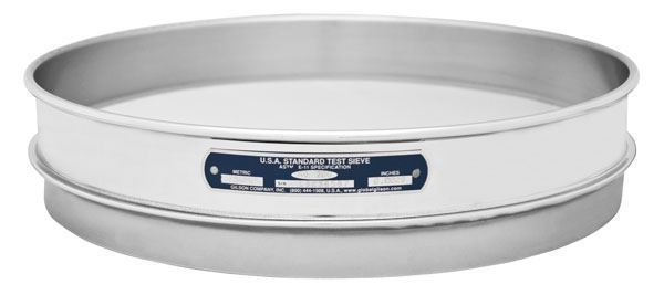 """12"""" Sieve, All Stainless, Half Height, 1.25mm"""