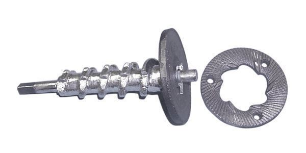 Wet-Feed Auger & Grinding Disc Set for Hand-Crank Disk Mill