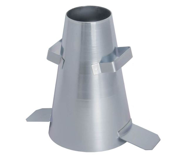 Steel Slump Cone with welded foot tabs