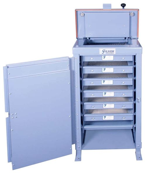 TS-4 Hydraulic Clamping Silent Testing Screen, 6-Tray Capacity (Trays and Pan not included)