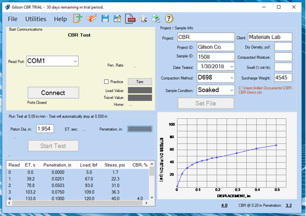 CBR / LBR Data Acquisition Software