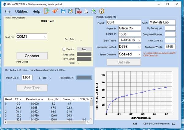CBR / LBR Data Acquisition Software