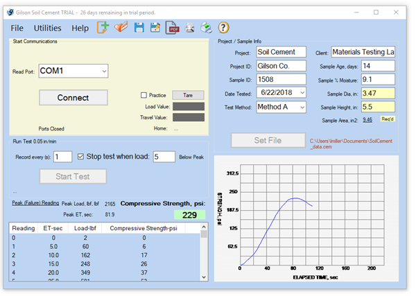 Soil Cement Data Acquisition Software