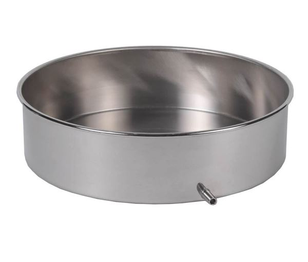 12in Stainless Steel Sieve Pan with Drain