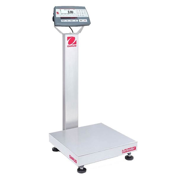 500,000g Capacity Ohaus Defender 5000 Bench Scale w/ Column, 100g Readability