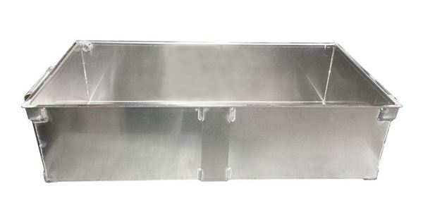 Aluminum Sample Pan for California Fixed Chute Splitter