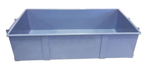 Steel Sample Pan for California Fixed Chute Splitter
