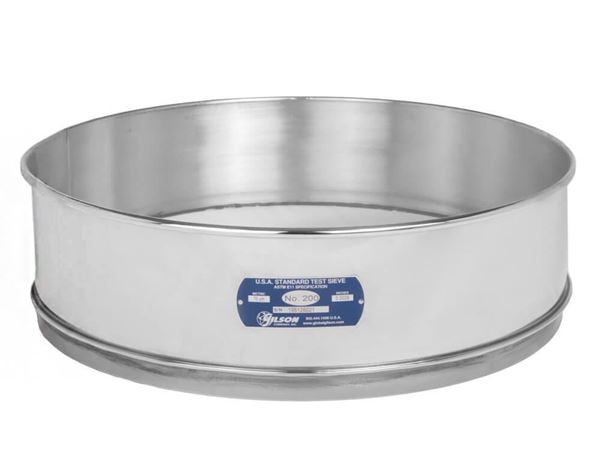 """18"""" Sieve, All Stainless, Full Height, No. 45"""