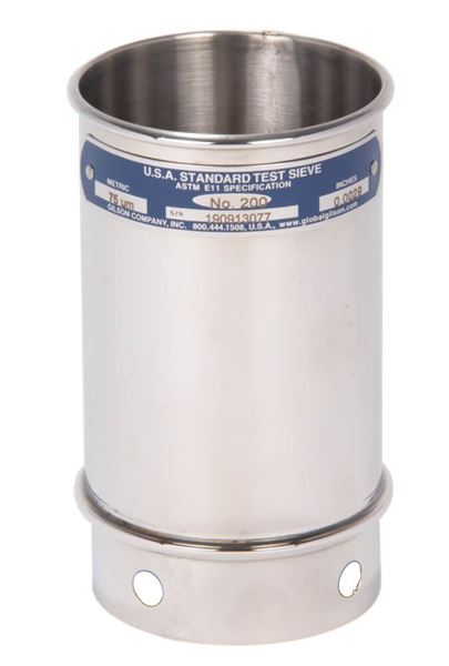 """3"""" Sieve, All Stainless, 4"""" Deep, #325 with Backing Cloth"""