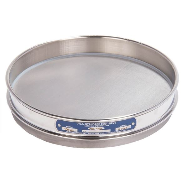 """8"""" Sieve, All Stainless, Half Height, No. 140"""