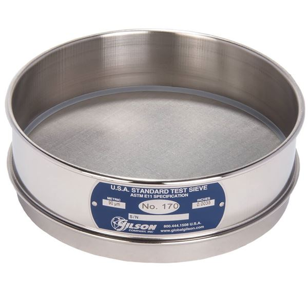 """8"""" Sieve, All Stainless, Full Height, No. 170"""
