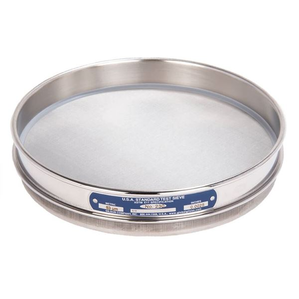 """8"""" Sieve, All Stainless, Half Height, No. 230"""