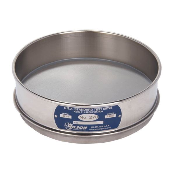 """8"""" Sieve, All Stainless, Full Height, No. 270"""